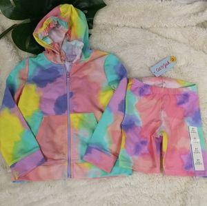 Toddler girl 2 piece tie dye set